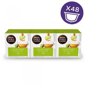 Lote de 3 cajas de Citrus honey black tea NESCAFÉ® Dolce Gusto®