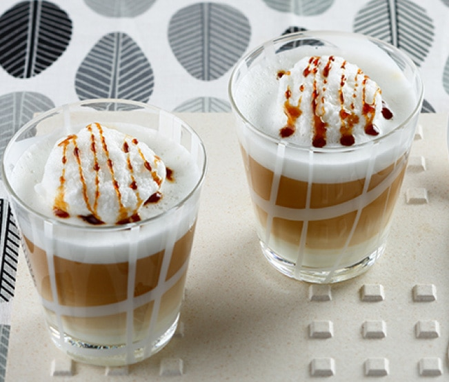 Isla flotante de latte macchiato light