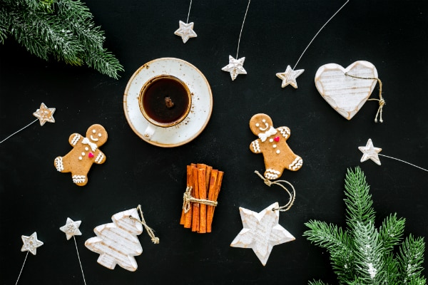 Gingerbread, galletas para café
